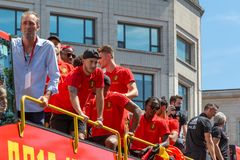 Hogar de la parte posterior del equipo de fútbol de Bélgica imagenes de archivo