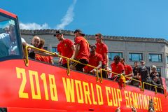 Hogar de la parte posterior del equipo de fútbol de Bélgica foto de archivo libre de regalías