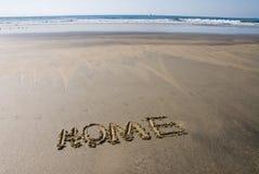 Hogar de la playa Fotografía de archivo libre de regalías