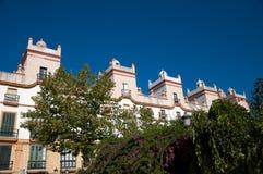 Hogar de las cinco torres, cuadrado de España Imagen de archivo libre de regalías
