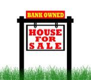 Hogar de las propiedades inmobiliarias para la muestra de la venta Fotografía de archivo libre de regalías