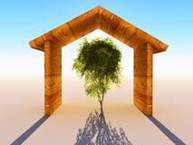 Hogar de madera Imágenes de archivo libres de regalías