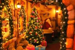 Hogar de Papá Noel fotografía de archivo