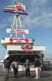 Hogar del ½ del embarcadero 43 de la flota roja y blanca en el muelle del pescador, San Francisco Foto de archivo libre de regalías