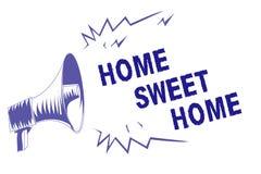 Hogar del dulce del hogar del texto de la escritura de la palabra Concepto del negocio para en el megáfono relajado de la púrpura libre illustration