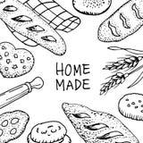 Hogar del pan hecho stock de ilustración