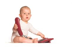 Hogar del teléfono del bebé Imagen de archivo libre de regalías