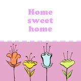 Hogar dulce casero Foto de archivo libre de regalías