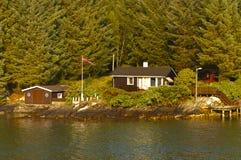 Hogar dulce casero. Casa en Noruega. fotografía de archivo libre de regalías