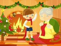 hogar dulce casero, cuenta descendiente al día de la Navidad Imágenes de archivo libres de regalías
