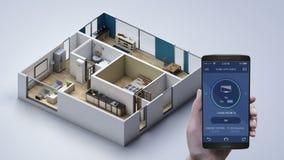 Hogar elegante de IoT, aparato electrodoméstico de caravana conmovedor, control encendido-apagado de la TV Internet de cosas metrajes