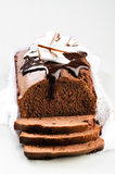 Hogar hecho que chocolate el pan se apelmaza Imágenes de archivo libres de regalías