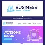Hogar hermoso de la marca del concepto del negocio, casa, apartamento, BU libre illustration