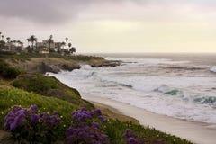Hogar lujoso del frente de la playa en San Diego Fotografía de archivo libre de regalías