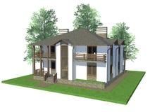 hogar modelo 3d Imagen de archivo libre de regalías