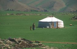 Hogar mongol Imagenes de archivo