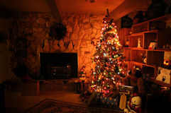 Hogar para la Navidad Imágenes de archivo libres de regalías