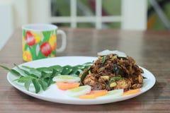 Hogar picante del estilo de Kerala del curry de la reunión hecho Foto de archivo libre de regalías