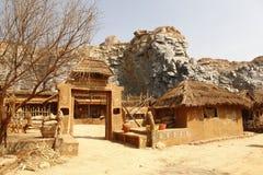 Hogar Rajasthán la India del pueblo rural Fotografía de archivo