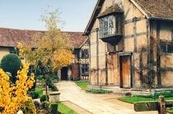Hogar relativo a Shakespeare Fotografía de archivo libre de regalías