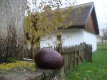 hogar rural, casa rural y jardín, idilio rural Foto de archivo libre de regalías