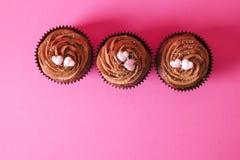 Hogar sabroso hecho dulces cocidos del mollete del cumpleaños Productos deliciosos de la panadería malos para la figura Dulces ma fotos de archivo