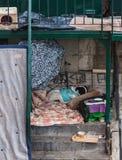 Hogar sin hogar Fotos de archivo libres de regalías