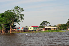 Hogar típico de la selva del Amazonas fotografía de archivo libre de regalías