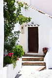 Hogar típico en pueblo blanco andaluz Foto de archivo libre de regalías