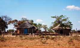 Hogar tradicional africano típico Imagen de archivo libre de regalías