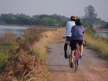 Hogar trasero del ciclista Imagen de archivo