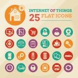 Hogar y Internet elegantes del sistema del icono de las cosas Fotografía de archivo libre de regalías