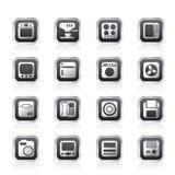 Hogar y oficina, iconos del equipo Imagen de archivo