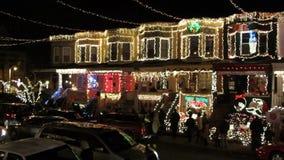 Hogares bonitos de la Navidad en Baltimore metrajes