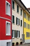 Hogares coloridos Foto de archivo