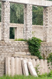 Hogares constructivos abandonados exteriores Fotografía de archivo libre de regalías