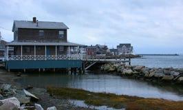 Hogares costeros de Nueva Inglaterra Imagen de archivo