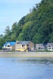 Hogares de la costa Imágenes de archivo libres de regalías