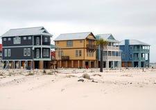 Hogares de la playa Imágenes de archivo libres de regalías