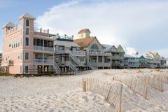 Hogares de lujo de la playa Imagen de archivo libre de regalías