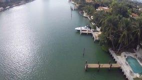 Hogares de lujo de Miami Beach almacen de metraje de vídeo
