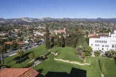 Césped del tribunal de Santa Barbara Imagen de archivo libre de regalías