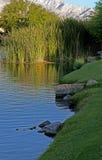 Hogares del campo de golf de Palm Spring Foto de archivo libre de regalías