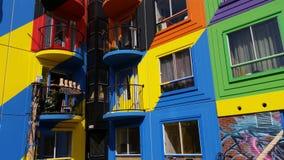 hogares del colorfull Foto de archivo