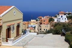 Hogares del día de fiesta en Crete foto de archivo