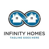Hogares del infinito del logotipo libre illustration