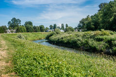 Hogares en el Green River Imagen de archivo