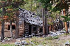 Hogares en un pueblo fantasma Imagenes de archivo