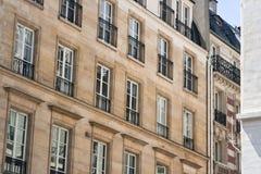 Hogares históricos en París Francia Foto de archivo libre de regalías