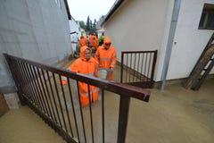 Hogares inundados Fotografía de archivo libre de regalías